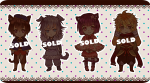 [Collab] Adoptables [CLOSED] by Neririn