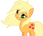 Applejack lets her hair down vector by wintrparkgrl