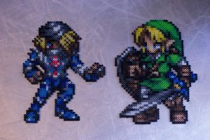 Link and Sheik by Brentimous