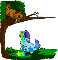 My next Rainbow Puke Victim by LindsayPrower