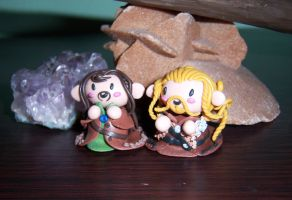 Fili and Kili (cernit handmade) by Orikunie
