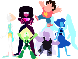 Steven Universe: The Crystal Gems (Updated) by SamuelJEllis