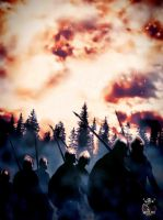 Viking Marching by thecasperart