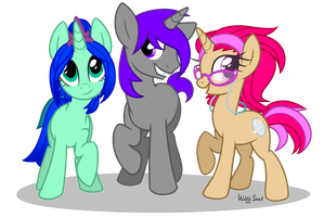 Pony Commission 57 - Family by Wicklesmack