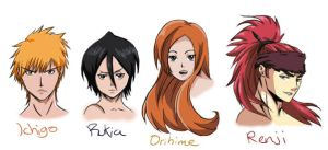 Bleach faves characters 1 by Spirit-woods