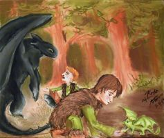 Hiccup and Toothless Meet Hiccup and Toothless by Zarakoda