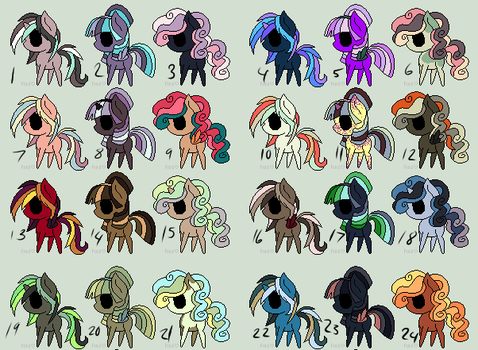 More Pony adopts (OTA OPEN) by fluff-and-jellyadopt