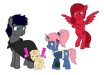 Fallout: Equestria Dirty Deeds characters by glue123