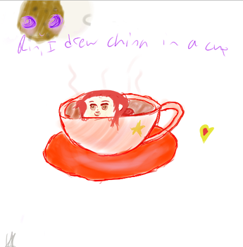 China In A Cup by Goldenpancakekk