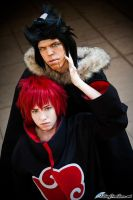 Sasori and the Sandaime - Naruto Shippuden by nekomatalee