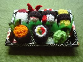 Crochet sushi by audreydc1983