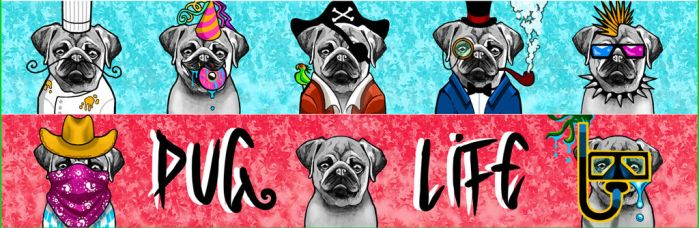 Pug Life Zox design. by Dustywallpaper