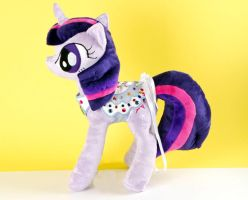 Twilight Sparkle Plushie with Jeweled Corset by Eveningarwen