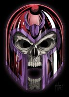 Magneto Skull by Muenchgesang