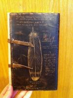 Leather Falconry Record Book Back by NIGHTFURY18