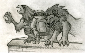 Work Sketch - Gargoyles by xHylianKnightx