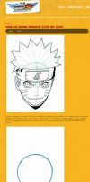 How to Draw Naruto Tutorial by HowToDrawManga3D