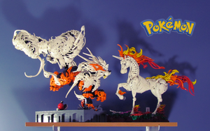 Arcanine and Rapidash by retinence