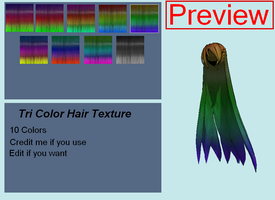 Hair Texture: Tri-Color DL by JadeEdenCDM