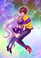 Sora and Shiro by CandySkitty
