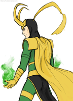 Loki's magic by GoreChick