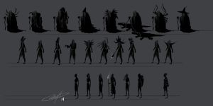 Witch Concept Thumbnails by AlexDRomero