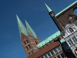Lubeck centre by ReneHaan