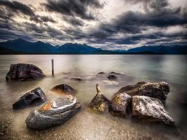 Lake Manapouri by wolfblueeyes