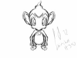 Chimchar sketch :Request: by JamalC157