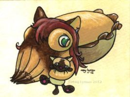 Commission: Lilikitty Cuttlefish by MegLyman