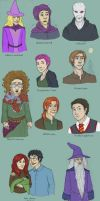 Harry Potter Doodles II by AlbinoNial