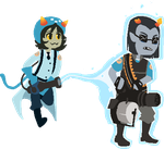 TF2Stuck Nepeta and Equius by MarshmallowInvader