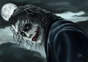 The Joker 2008 ( Heath Ledger ) by Martin-Saelens
