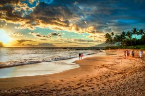 Hawaii, gathering at the beach by alierturk