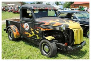 Flamed Rat Rod Truck by TheMan268