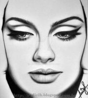 Adele face's by LexDizih
