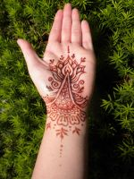 Henna Lotus Palm and Bracelet Stain by flowerwills