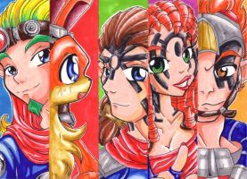 Jak 2 - bookmarks by KeyshaKitty