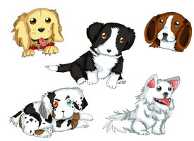 PUPPIES! by purplemagechan