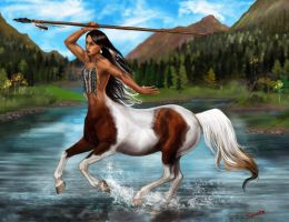 North American Indian Centaur by SYoshiko