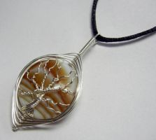 Herringbone Wire Wrap Tree of Life Pendant by Create-A-Pendant