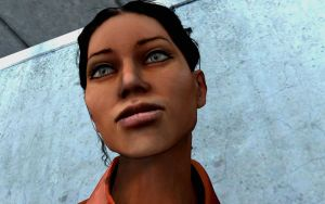Chell Closeup by thelonesoldier