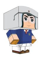 METEORO ANIME PAPER TOY by animepapertoys