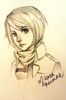Mikasa Ackerman by autumnechoes