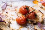 Baked tomatoes with toasted bread by BeKaphoto