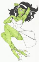 Pin Up Bride of Frankenstine by TheLadyJ