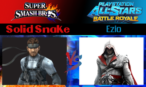 Solid Snake vs Ezio by SonicPal