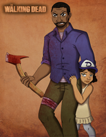 TWDG ~ Lee and Clementine by chachi411