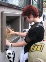 --Gaara at the ATM-- by Naruto-Cosplay