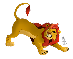 Adult Kion Is Angry by KingSimba